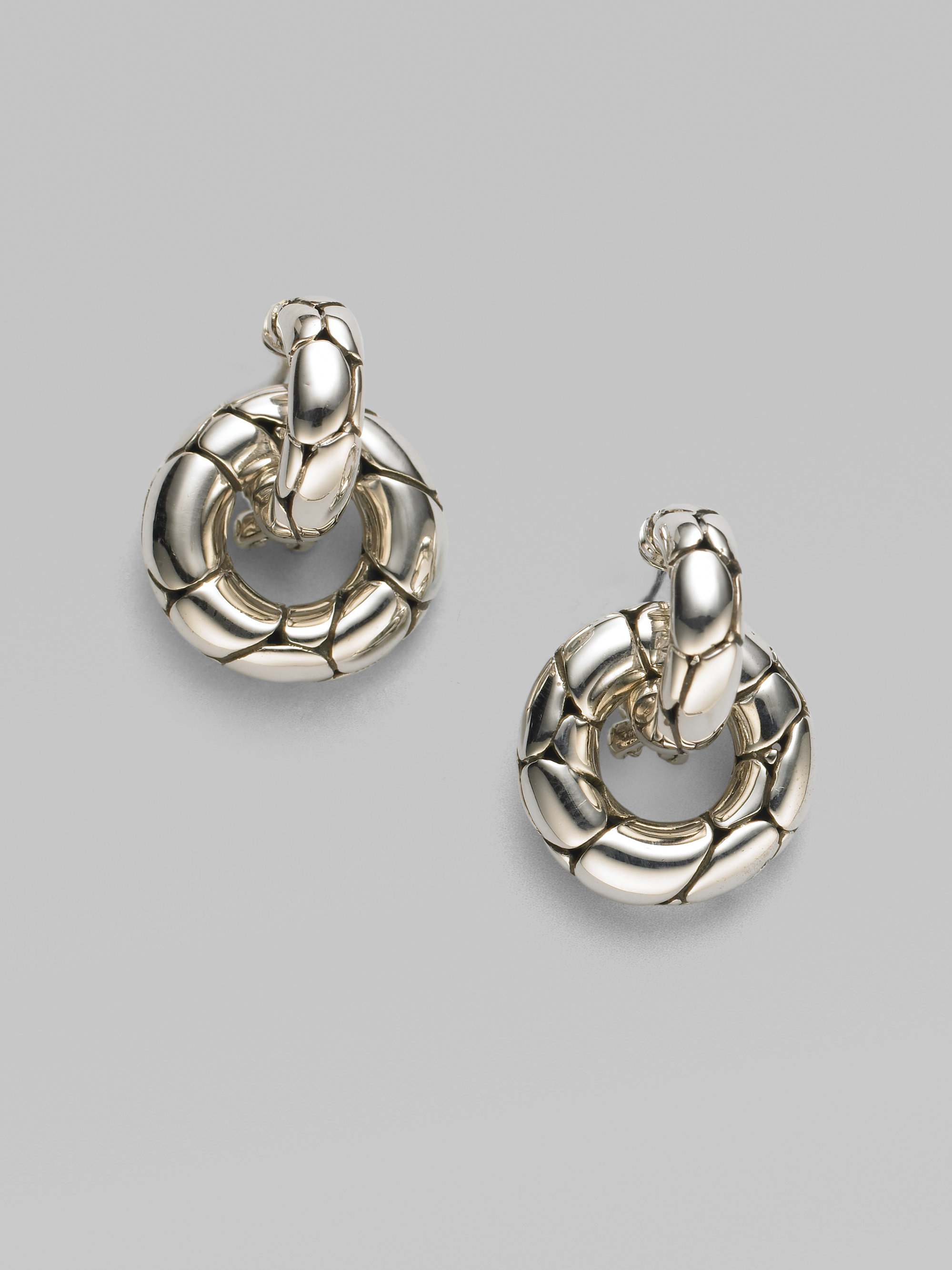 john hardy kali sterling silver small doorknocker earrings