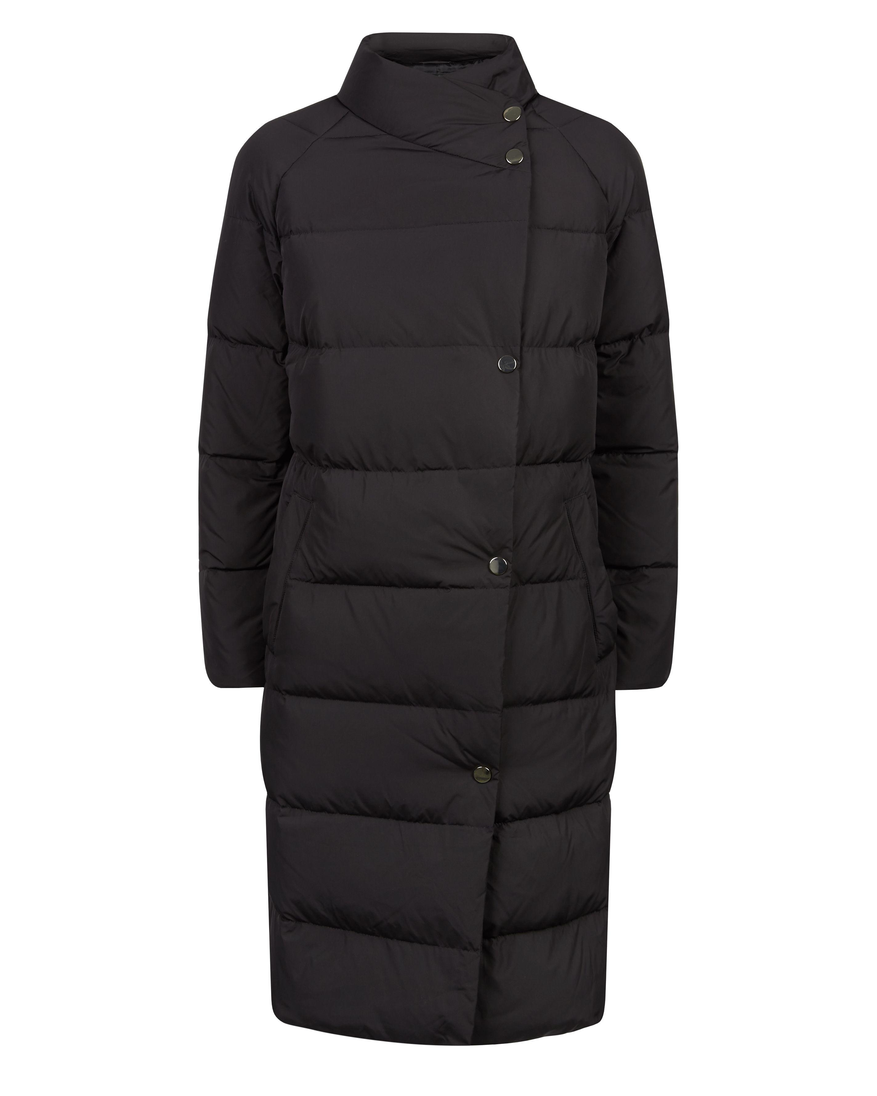 Jaeger Asymmetric Puffer Coat in Black