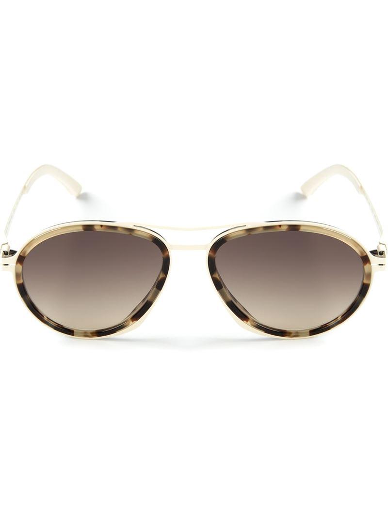 Mykita Round Sunglasses  mykita round sunglasses in white lyst