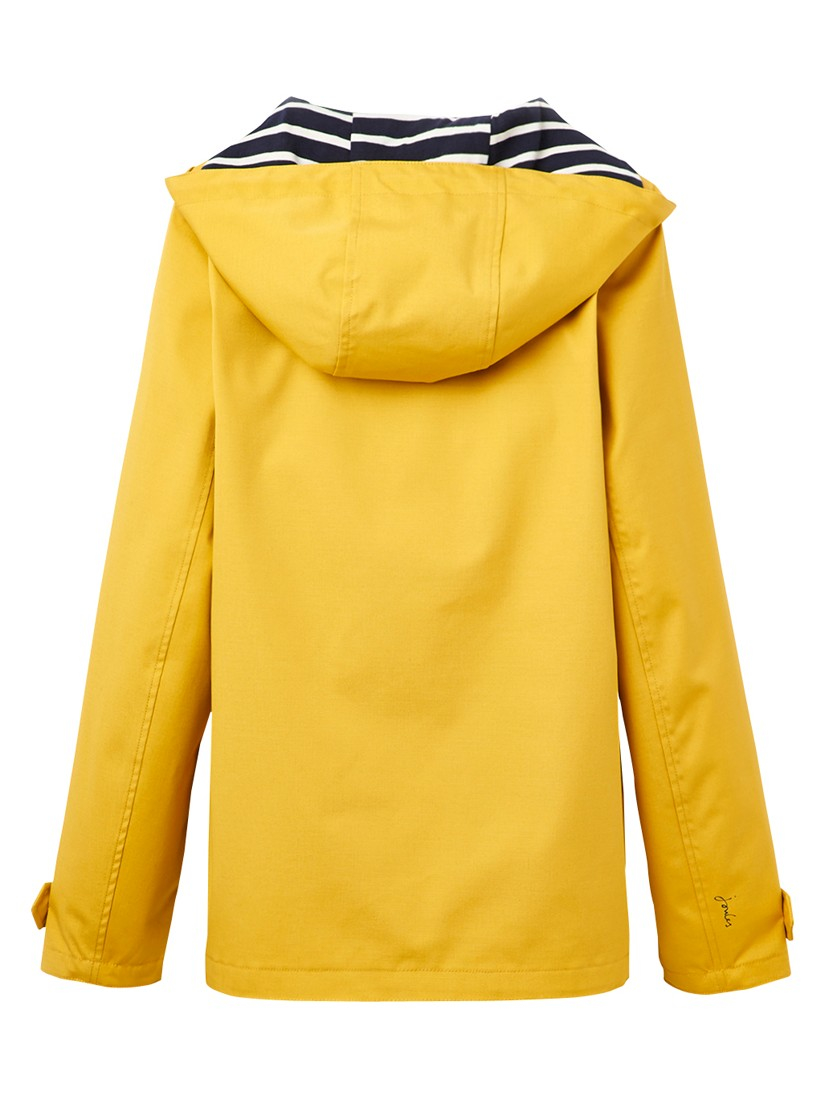 Joules Right As Rain Coast Waterproof Jacket in Yellow