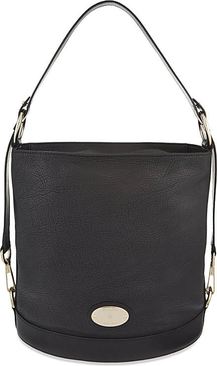 44fea1e1a3 Mulberry Jamie Washed Calf-leather Bucket Bag in Black - Lyst