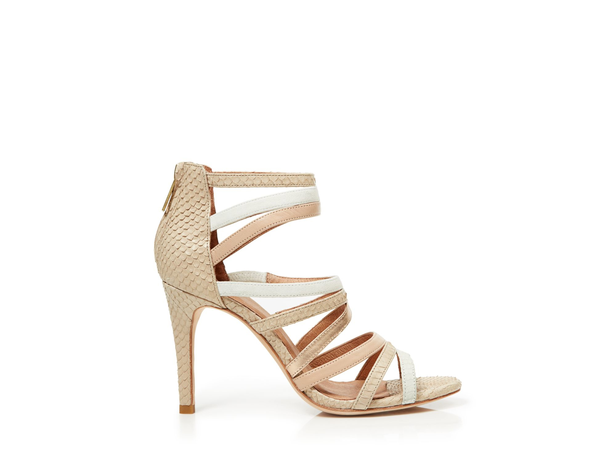 ced34529928a Lyst - Joie Snake Skin Strappy Sandals - Zee High Heel in Natural