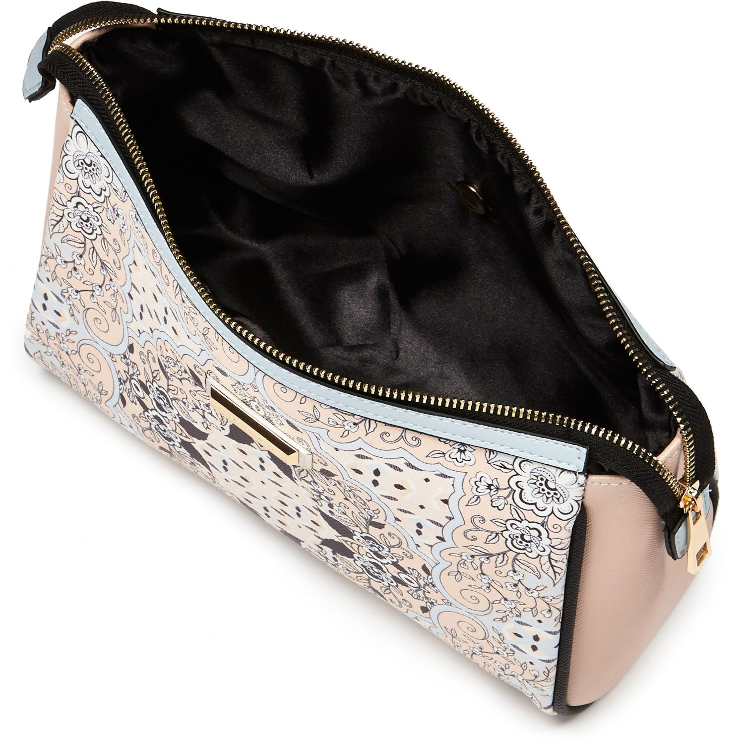 River Island Blue Scarf Print Wash Bag In Blue | Lyst