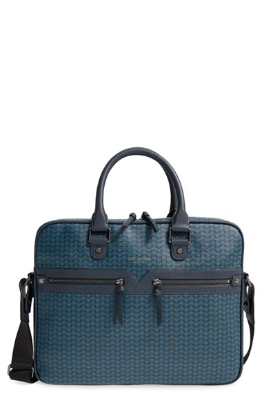 Lyst ted baker 39brenden39 document bag in blue for men for Ted baker london leather document bag