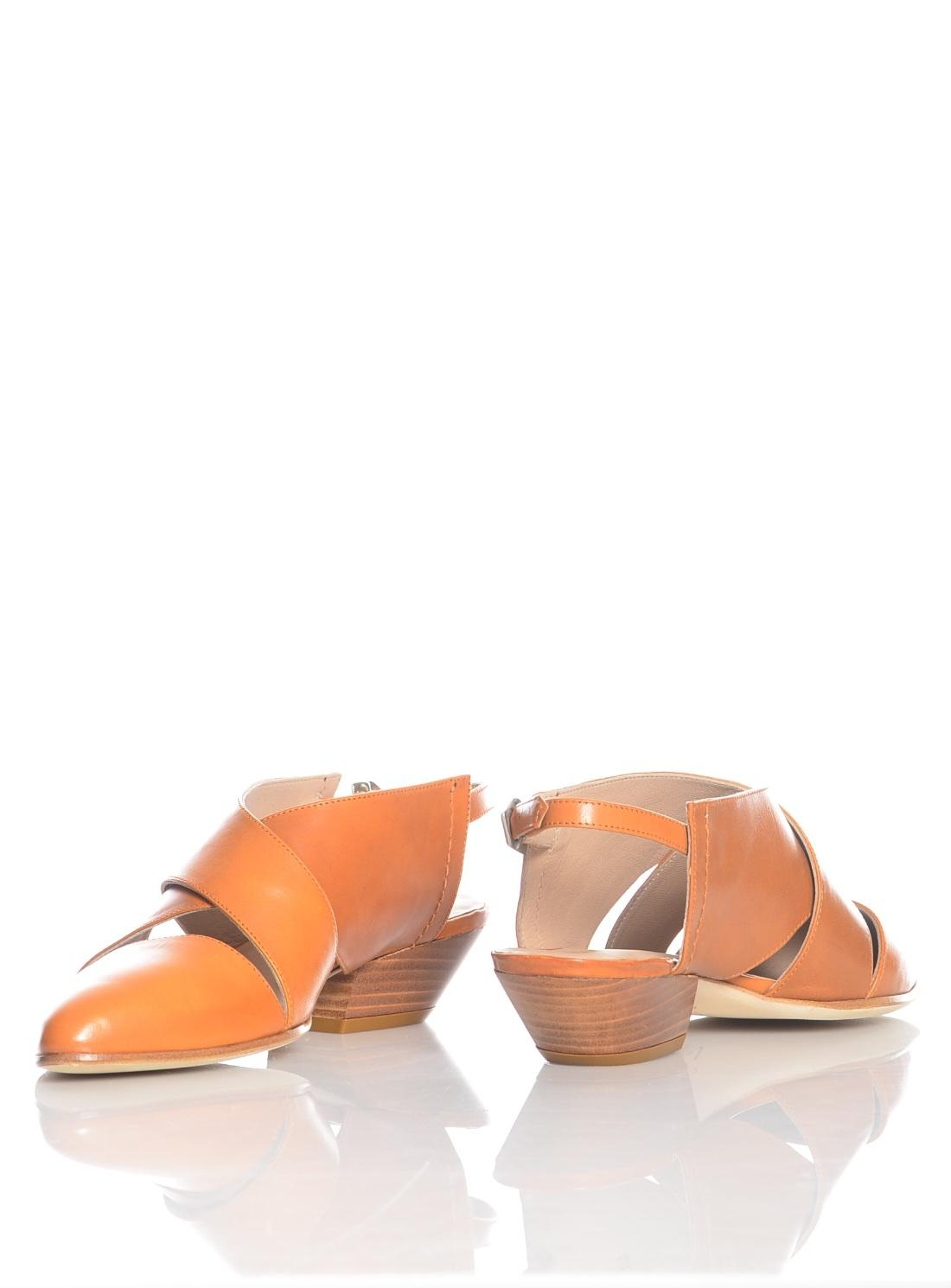 Lyst Atalanta Weller Cheffre Tan Leather Closed Toe