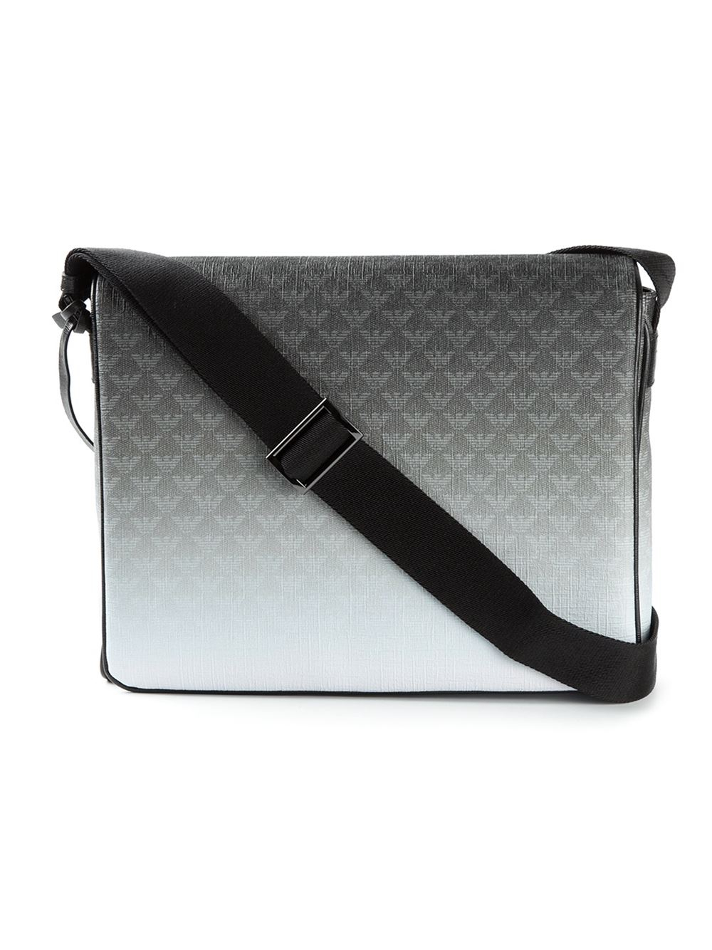 cebd68679042 Emporio Armani Logo Print Messenger Bag in Gray for Men - Lyst