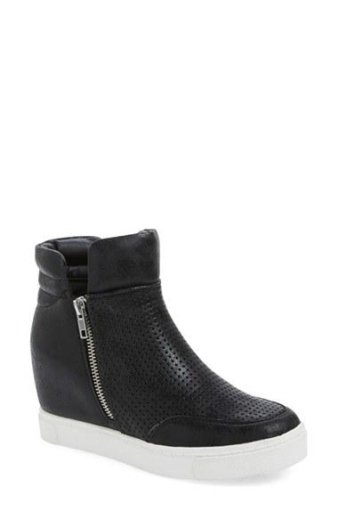 b99776ee49e5 Lyst - Steve Madden  linqsp  Wedge Sneaker in Black