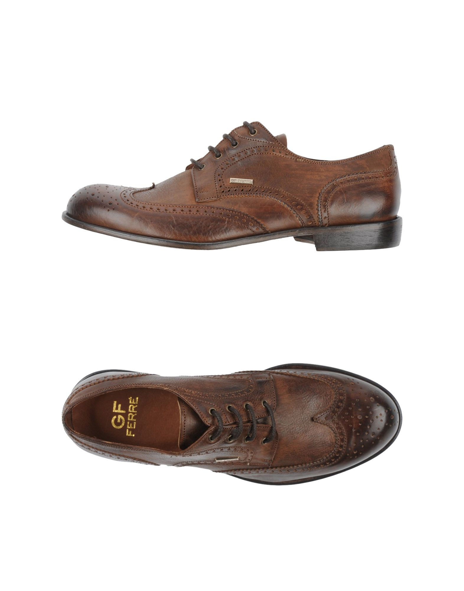 gianfranco ferr 233 laceup shoes in brown for lyst