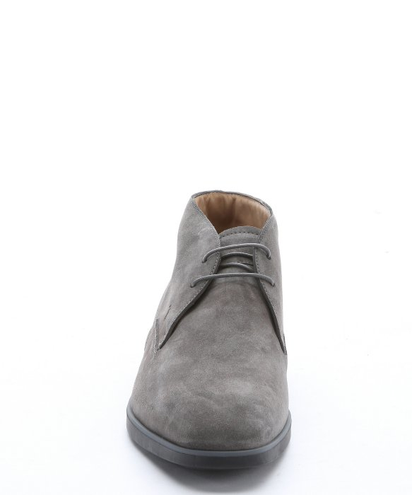 Lyst Tod S Lead Grey Suede Lace Up Chukka Boots In Gray
