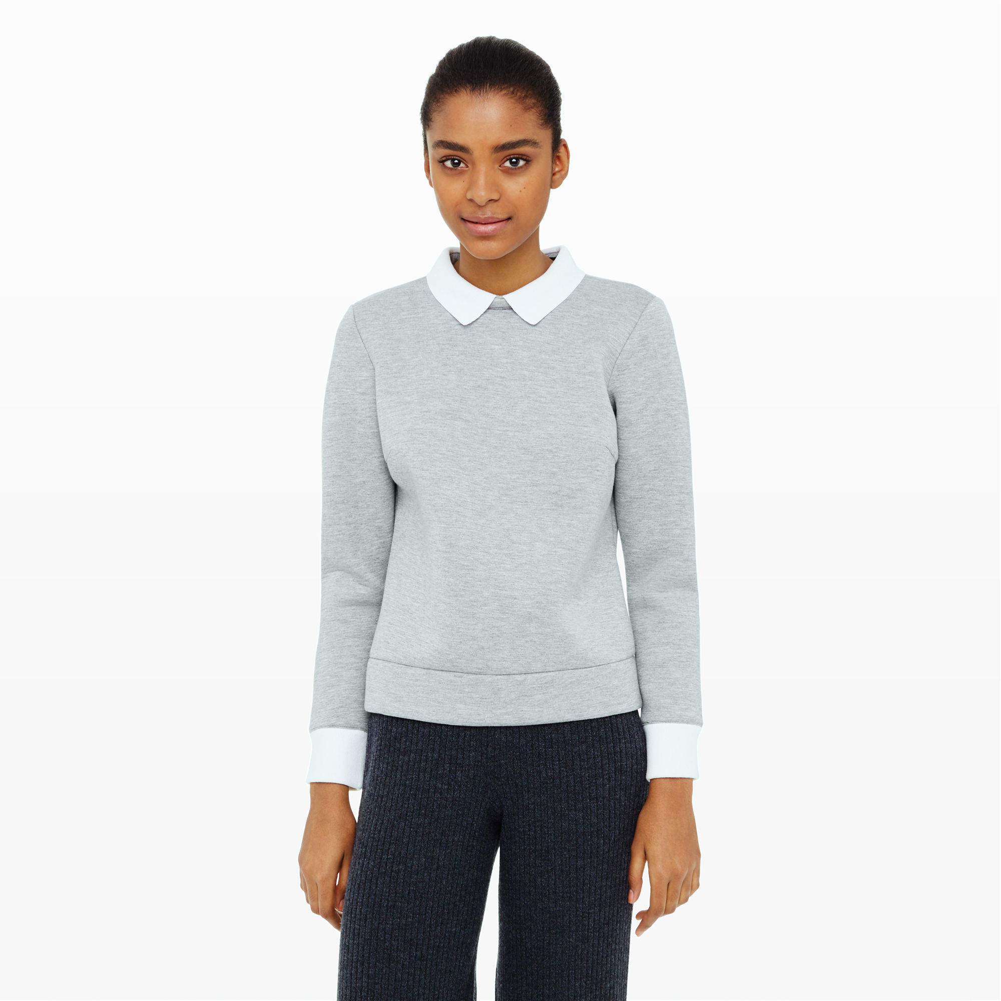 Club Monaco Irnan Collared Sweatshirt In Gray Lyst