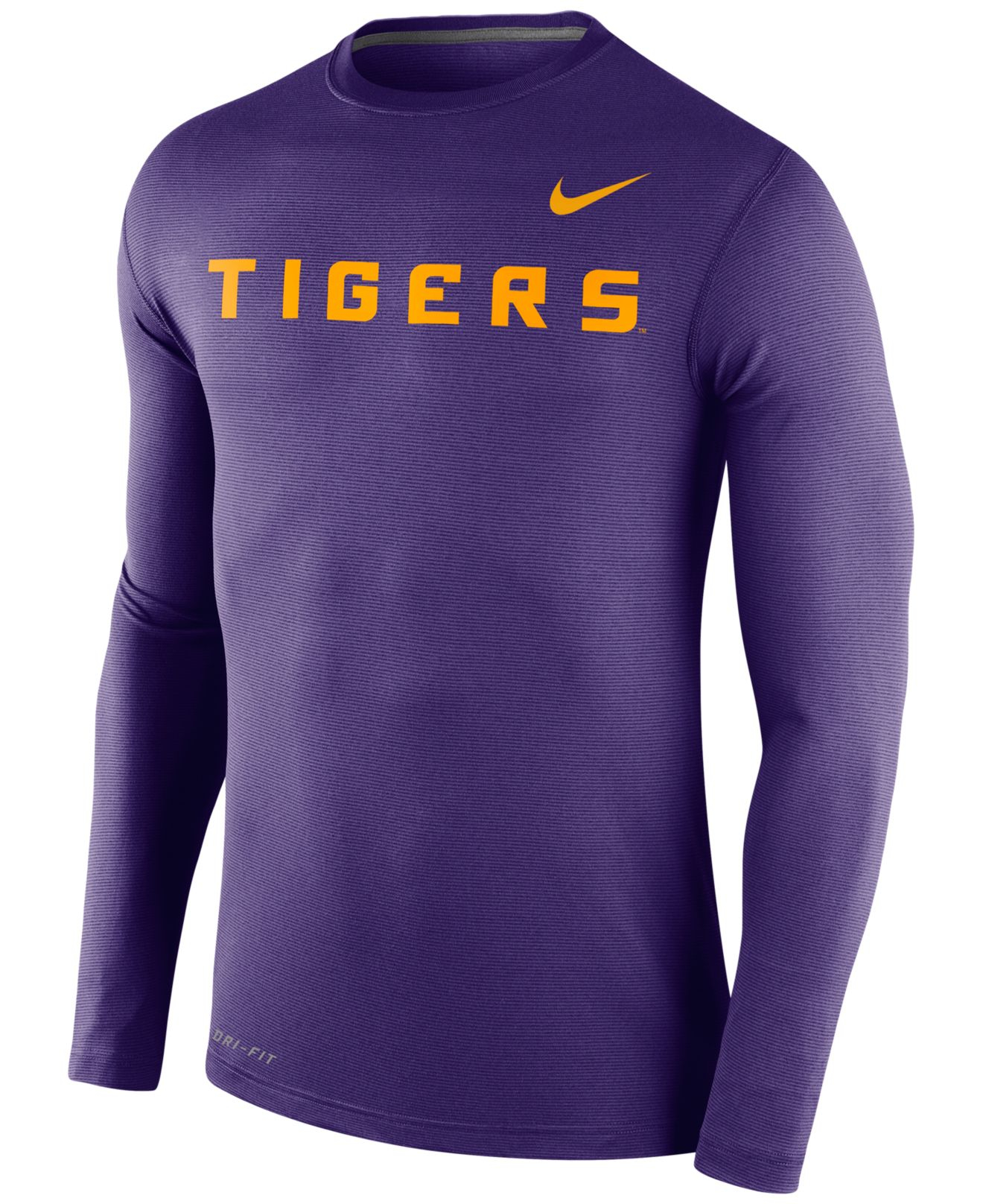 Nike Men 39 S Long Sleeve Lsu Tigers Dri Fit T Shirt In