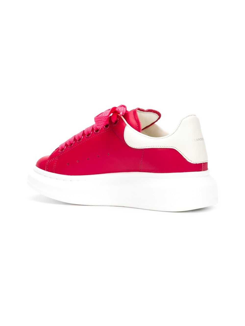 Alexander Mcqueen Extended Sole Sneakers In Red Lyst
