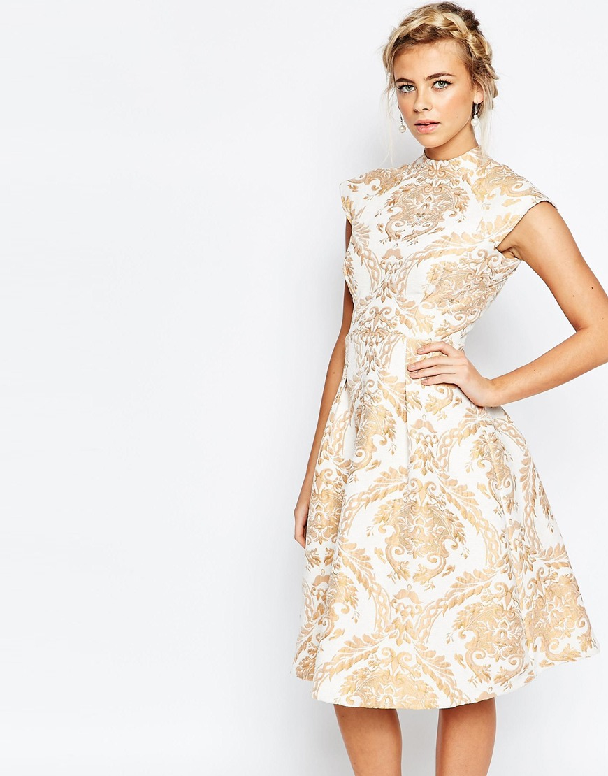 Cream and Gold Dresses for Women  Dress images