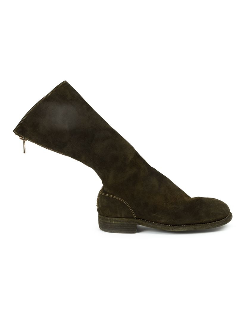 Perfect Guidi Heeled Suede Chelsea Boots In Black  Lyst