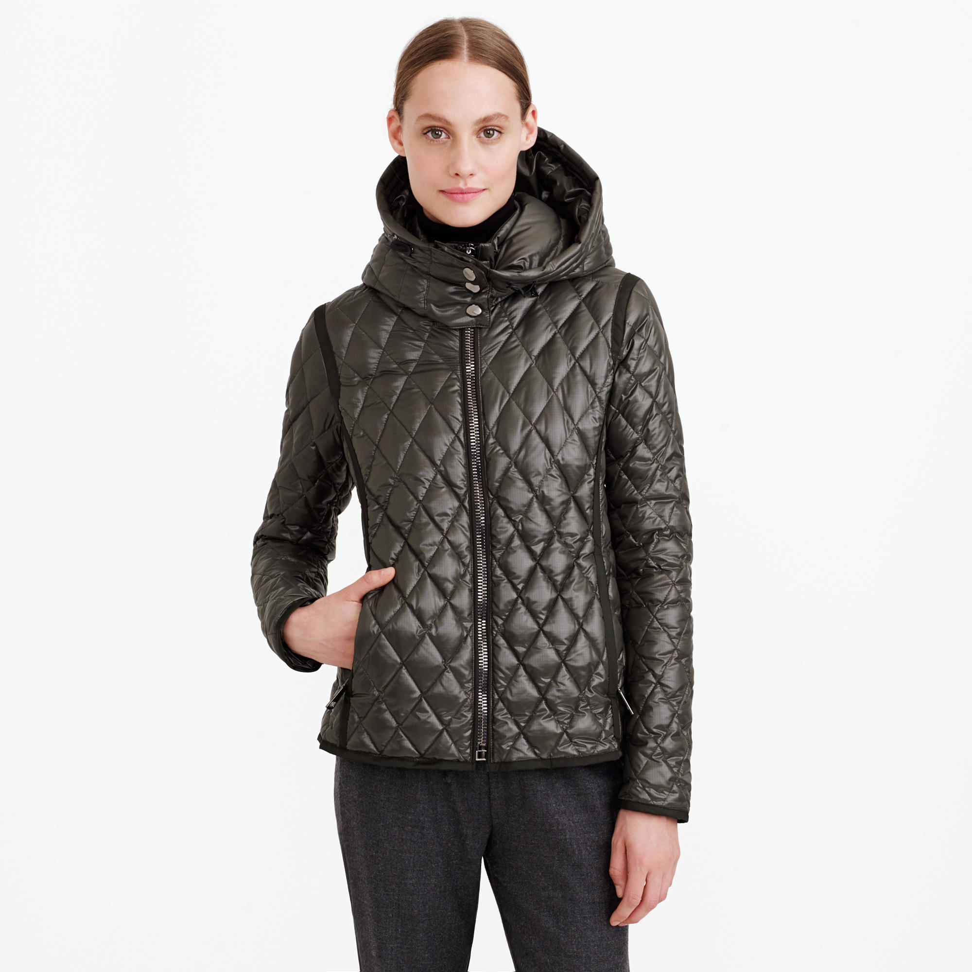 Lyst J Crew Authier Quilted Diamond Jacket In Green