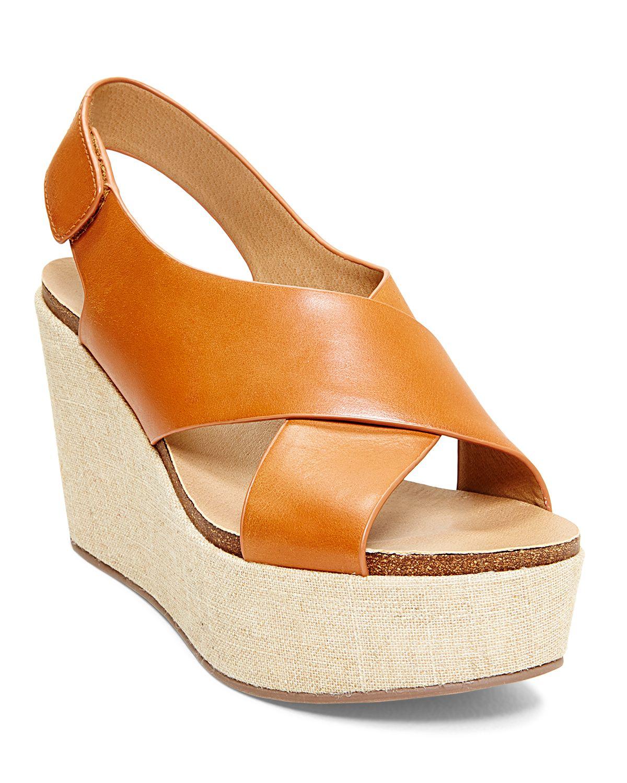 6d13e2e549a Lyst - Steven by Steve Madden Open Toe Platform Wedge Sandals ...