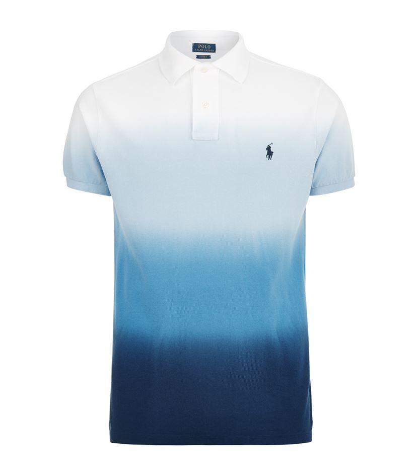 4229b5be9 Polo Ralph Lauren Custom Fit Dip Dye Polo Shirt in Blue for Men - Lyst