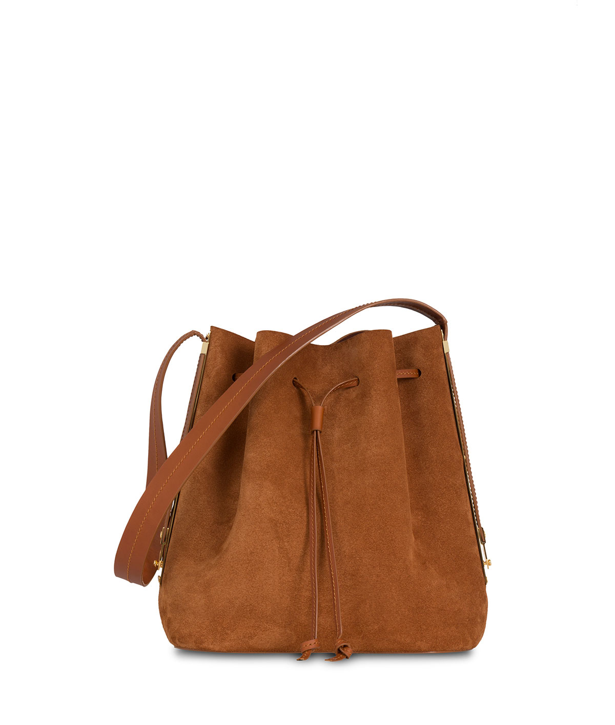 Sophie hulme Gibson Suede Bucket Bag in Brown | Lyst