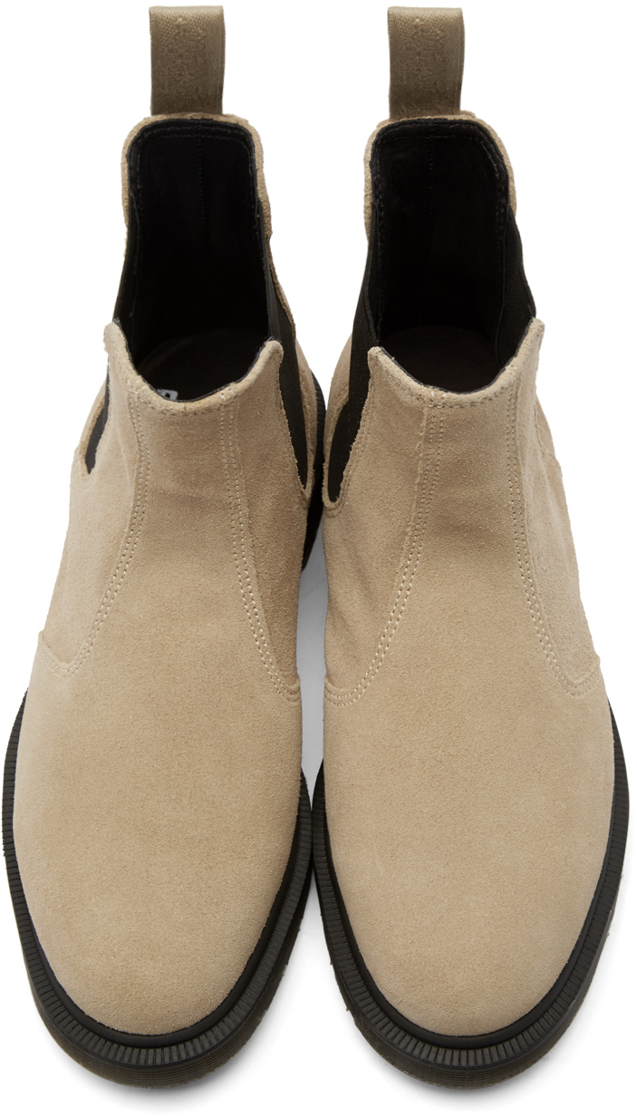 dr martens beige suede chelsea boots in black for men lyst. Black Bedroom Furniture Sets. Home Design Ideas