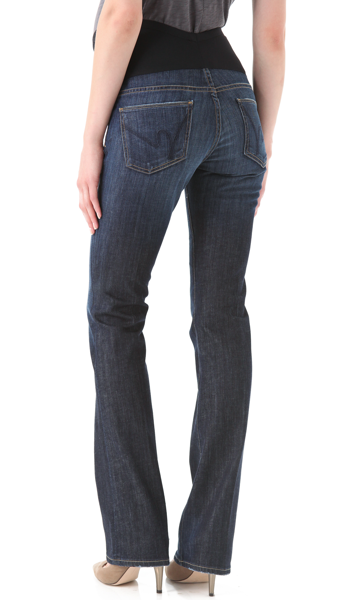 Citizens of humanity Kelly Boot Cut Maternity Jeans - Pacific in ...