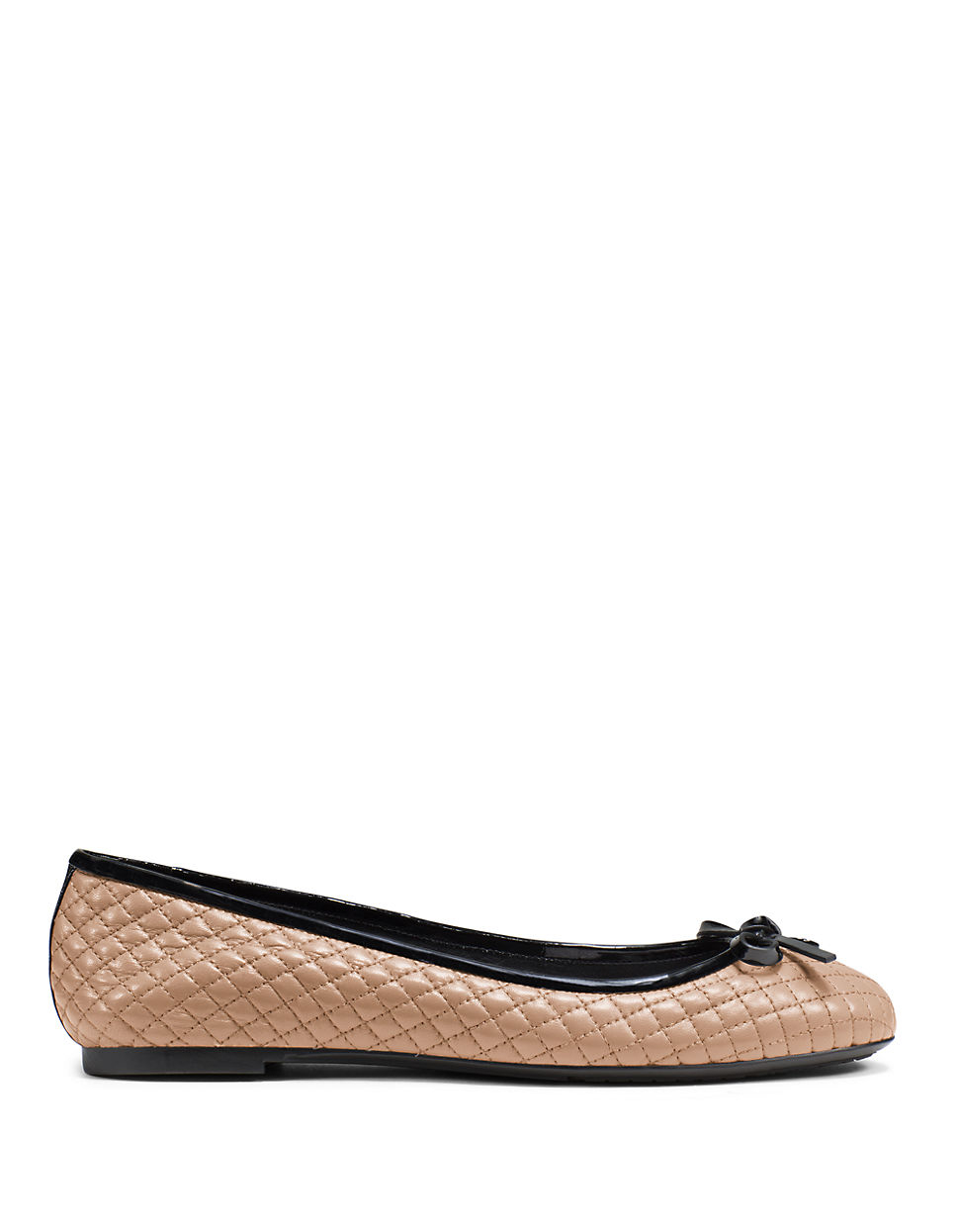 michael michael kors melody quilted leather ballet flats in natural lyst. Black Bedroom Furniture Sets. Home Design Ideas