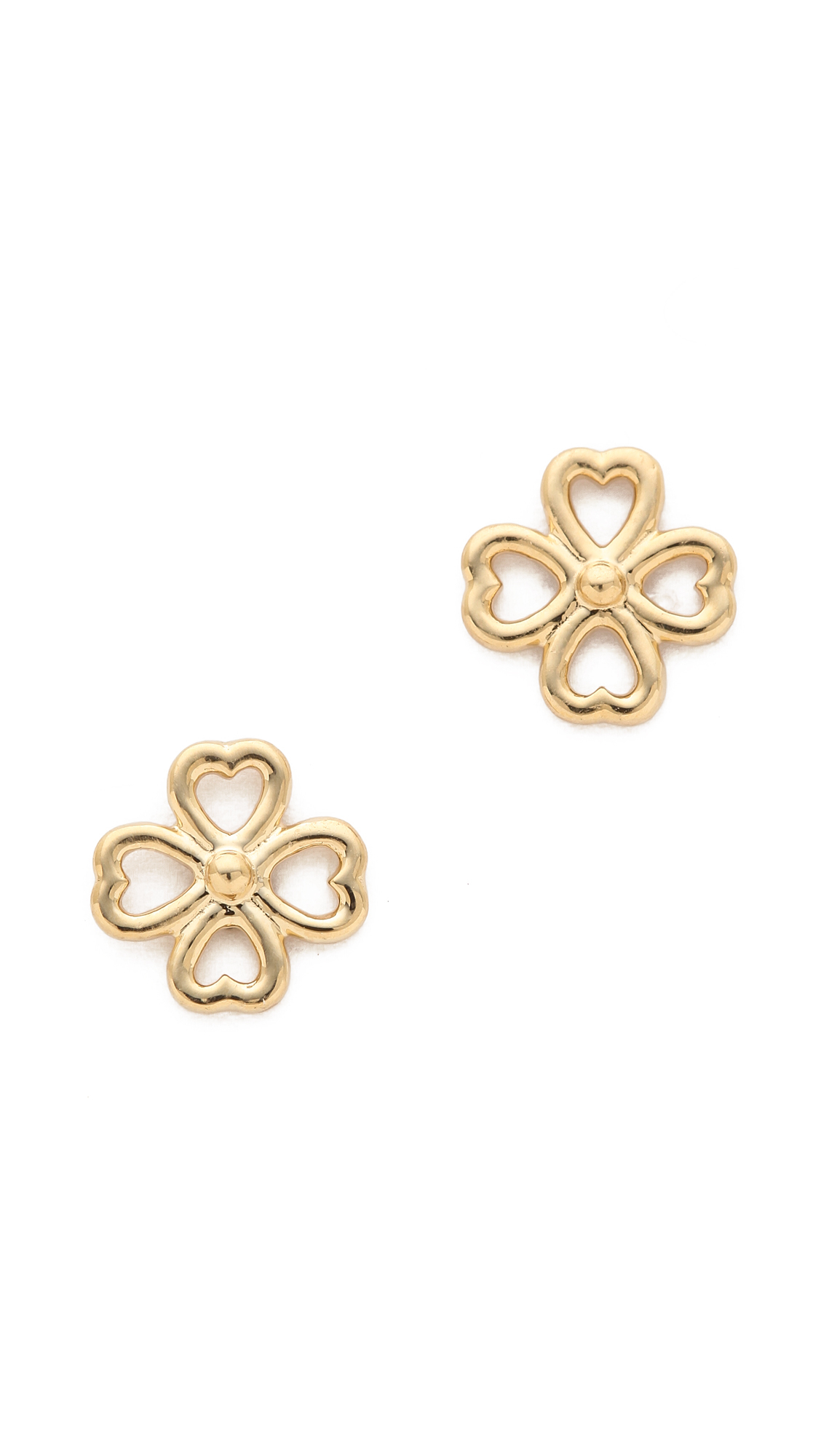 clover earrings studs aurelie bidermann mini clover stud earring in metallic lyst 5828