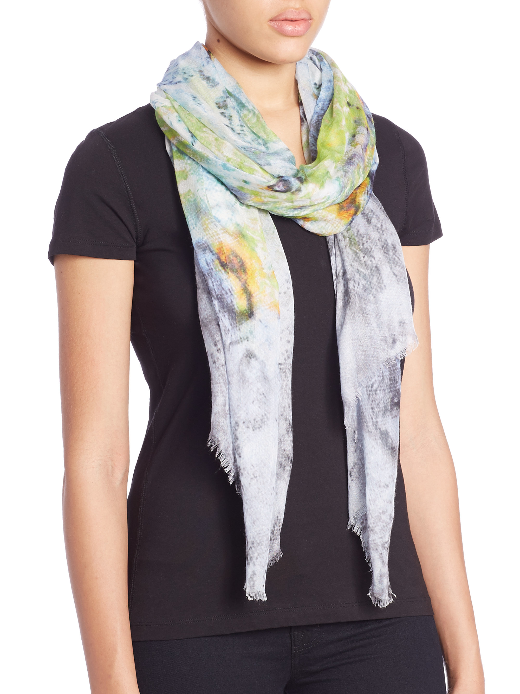 tilo graphic modal scarf lyst