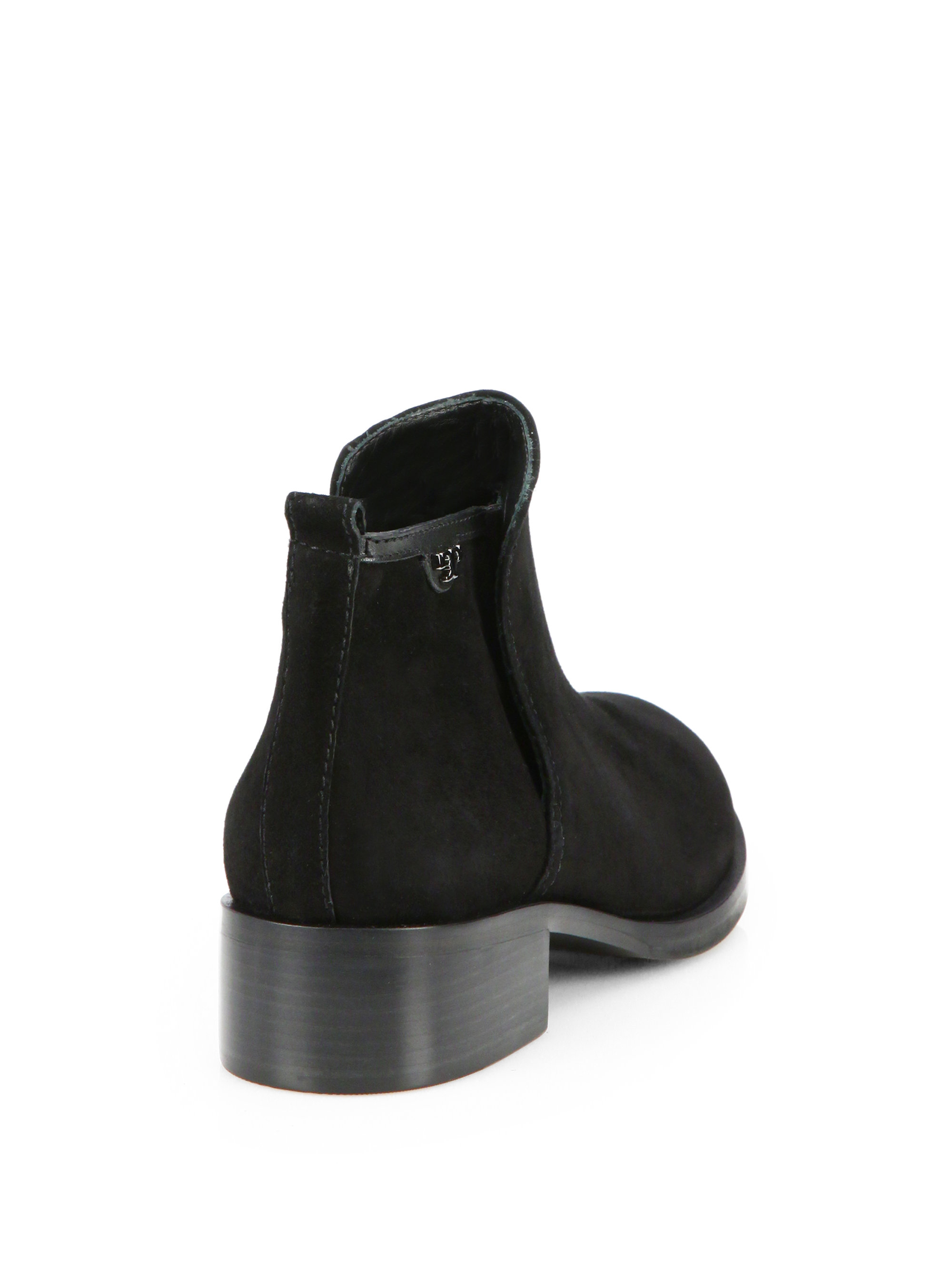 burch suede ankle boots in black lyst