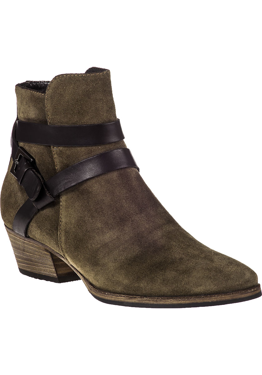 Lyst Aquatalia Fleur Ankle Boot Mud Suede In Natural