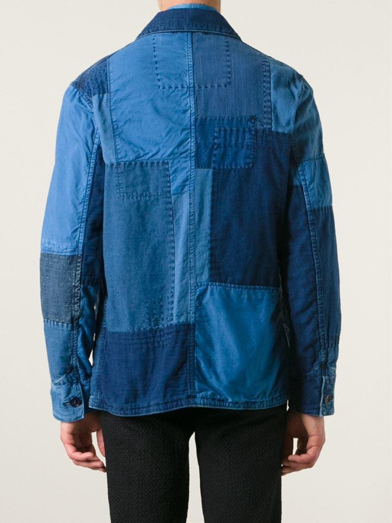 Blue Blue Japan Patchwork Denim Jacket In Blue For Men Lyst