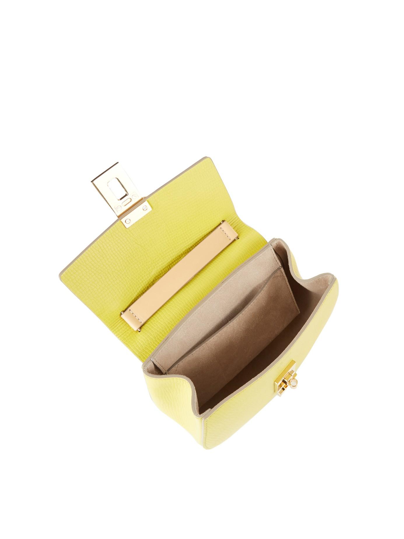 Chlo�� Drew Mini Leather Cross-Body Bag in Yellow | Lyst