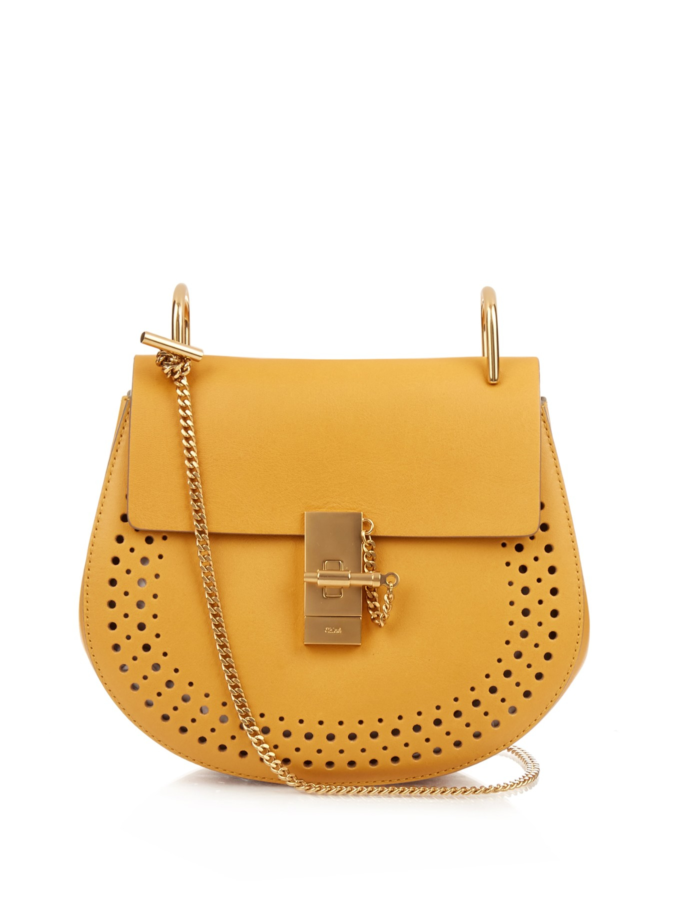 Chlo�� Drew Small Leather Cross-Body Bag in Yellow | Lyst