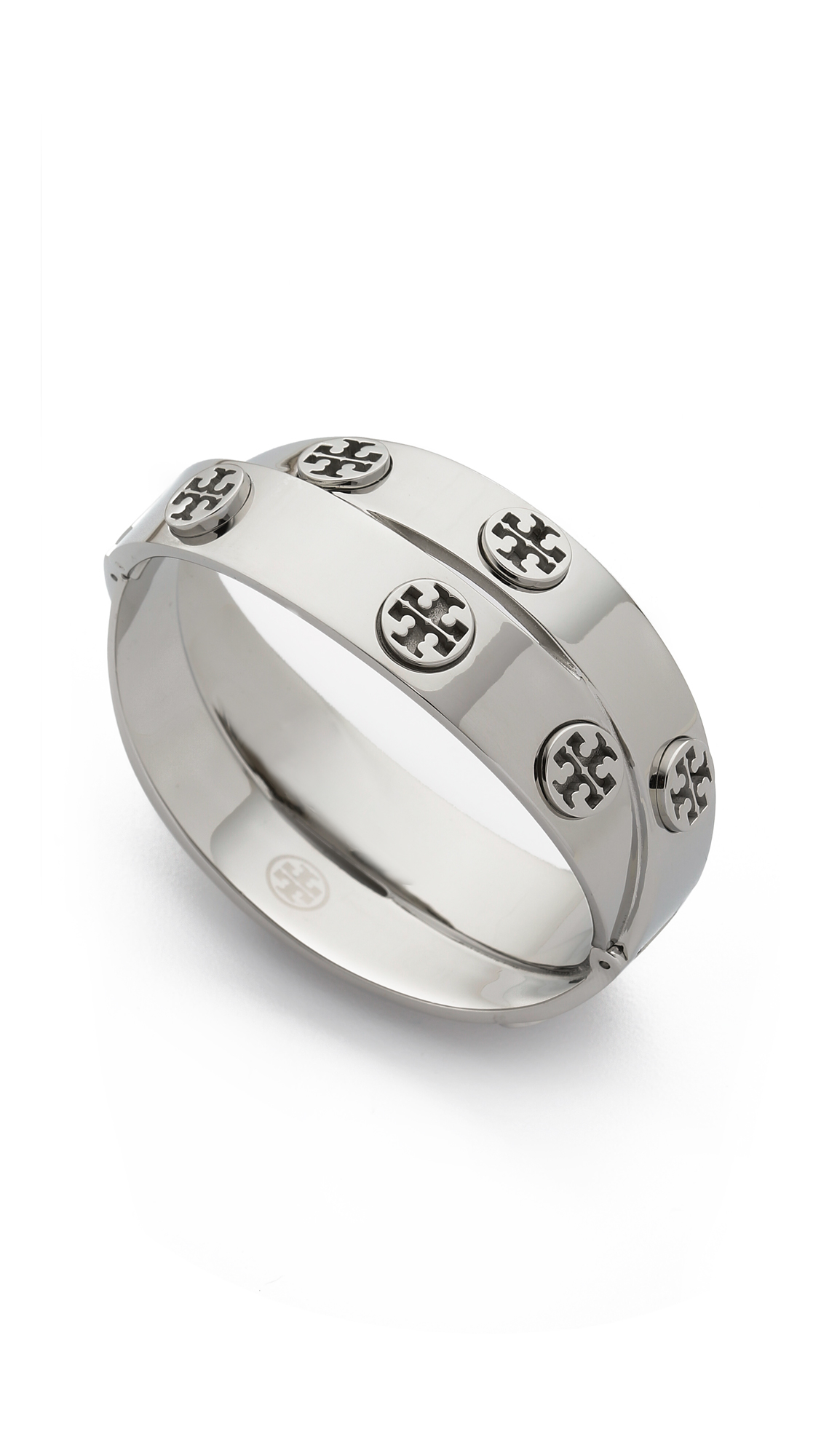 Lyst Tory Burch Double Wrap Cuff Bracelet In Metallic