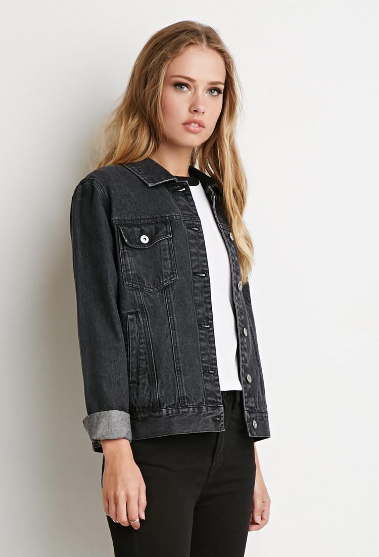 Black denim jacket forever 21