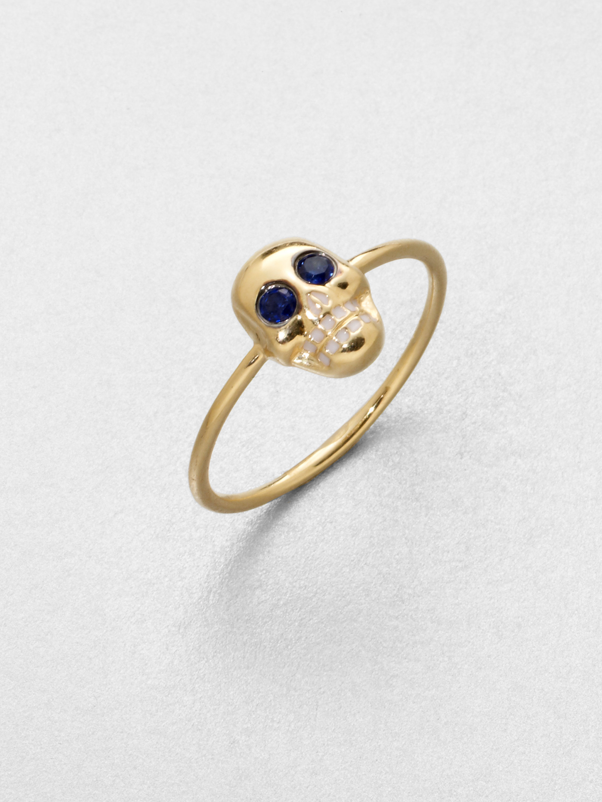 pomegranate gleizer sapphire golden ring gold elina jewelry products