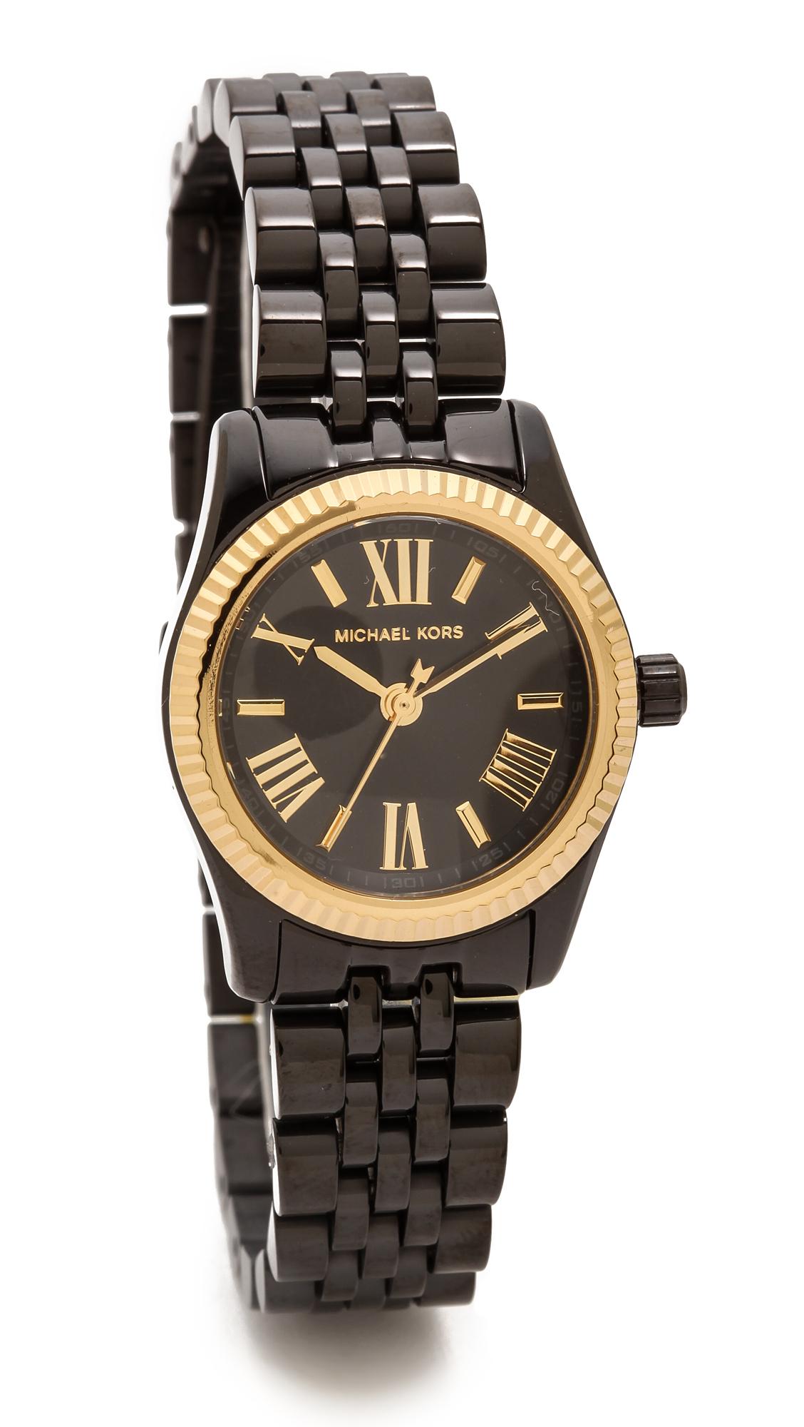 Lyst Michael Kors Midnight Safari Petite Lexington Watch