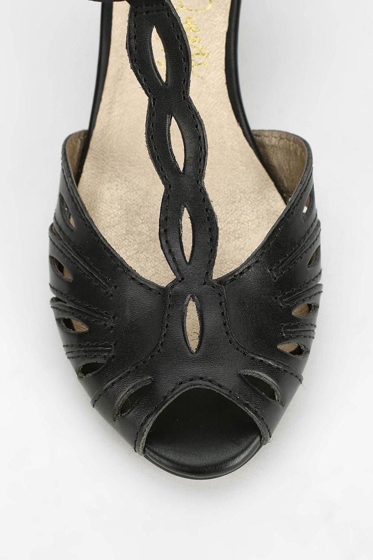 f61b71212ef Lyst - Seychelles T-Strap Peep-Toe Heel in Black