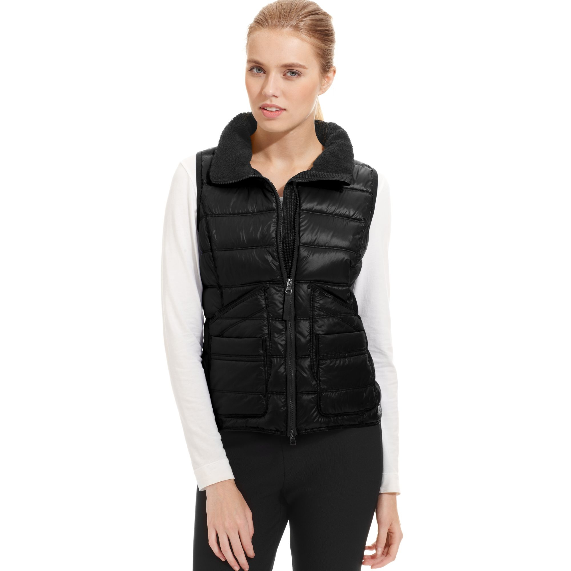 Calvin Klein Performance Quilted Puffer Vest In Black Lyst