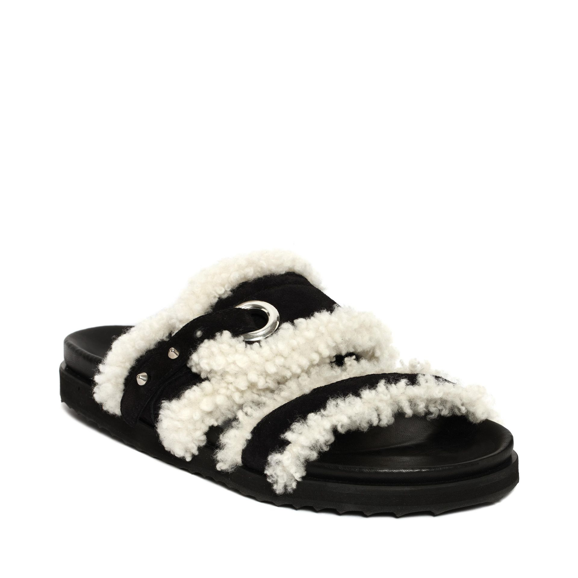 Suede and shearling sandals Alexander McQueen r3AEZn