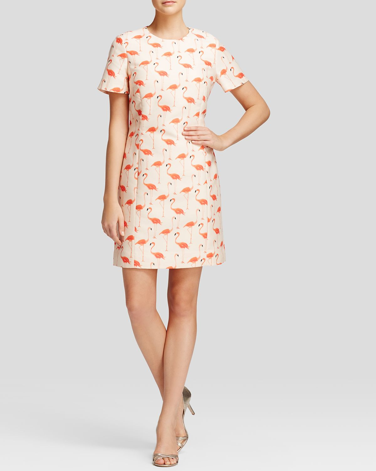 Kate spade new york Flamingo Print Sheath Dress | Lyst