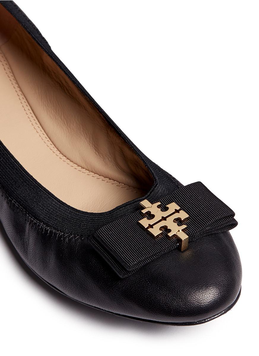056f86734 ... wholesale tory burch sedgewick leather ballet flats in black lyst 07702  046f2