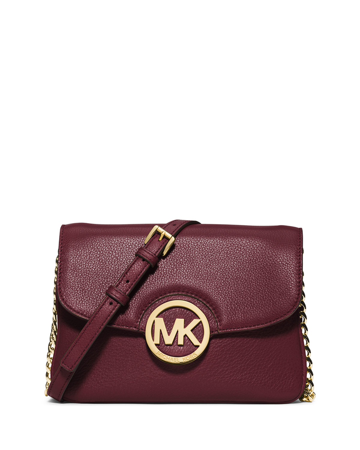 lyst michael michael kors fulton cross body bag in purple. Black Bedroom Furniture Sets. Home Design Ideas