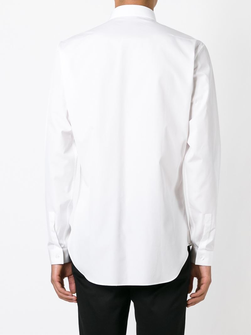 Dior homme bee embroidery shirt in white for men lyst
