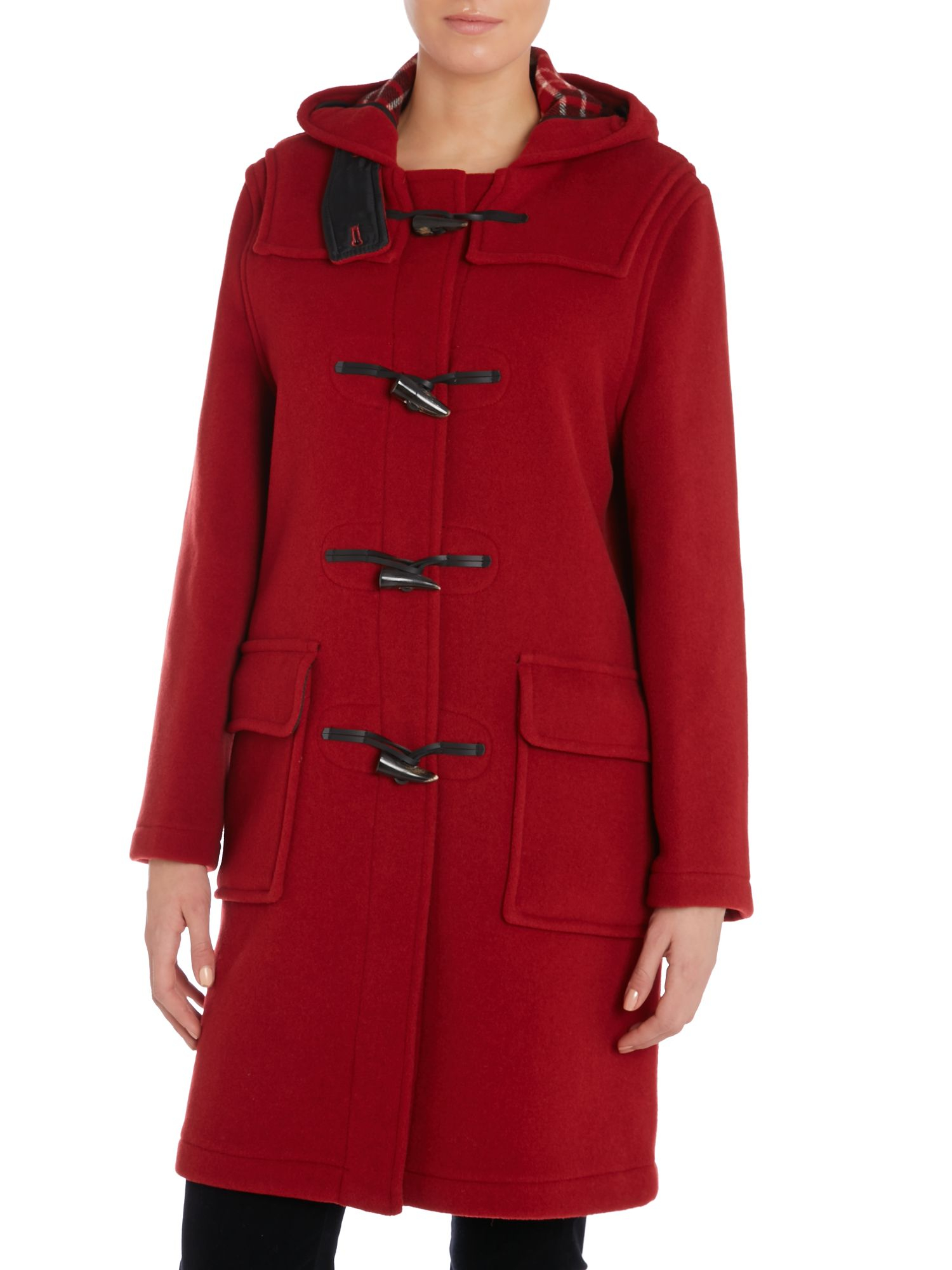 Gloverall Long Original Fit Duffle Coat in Red | Lyst