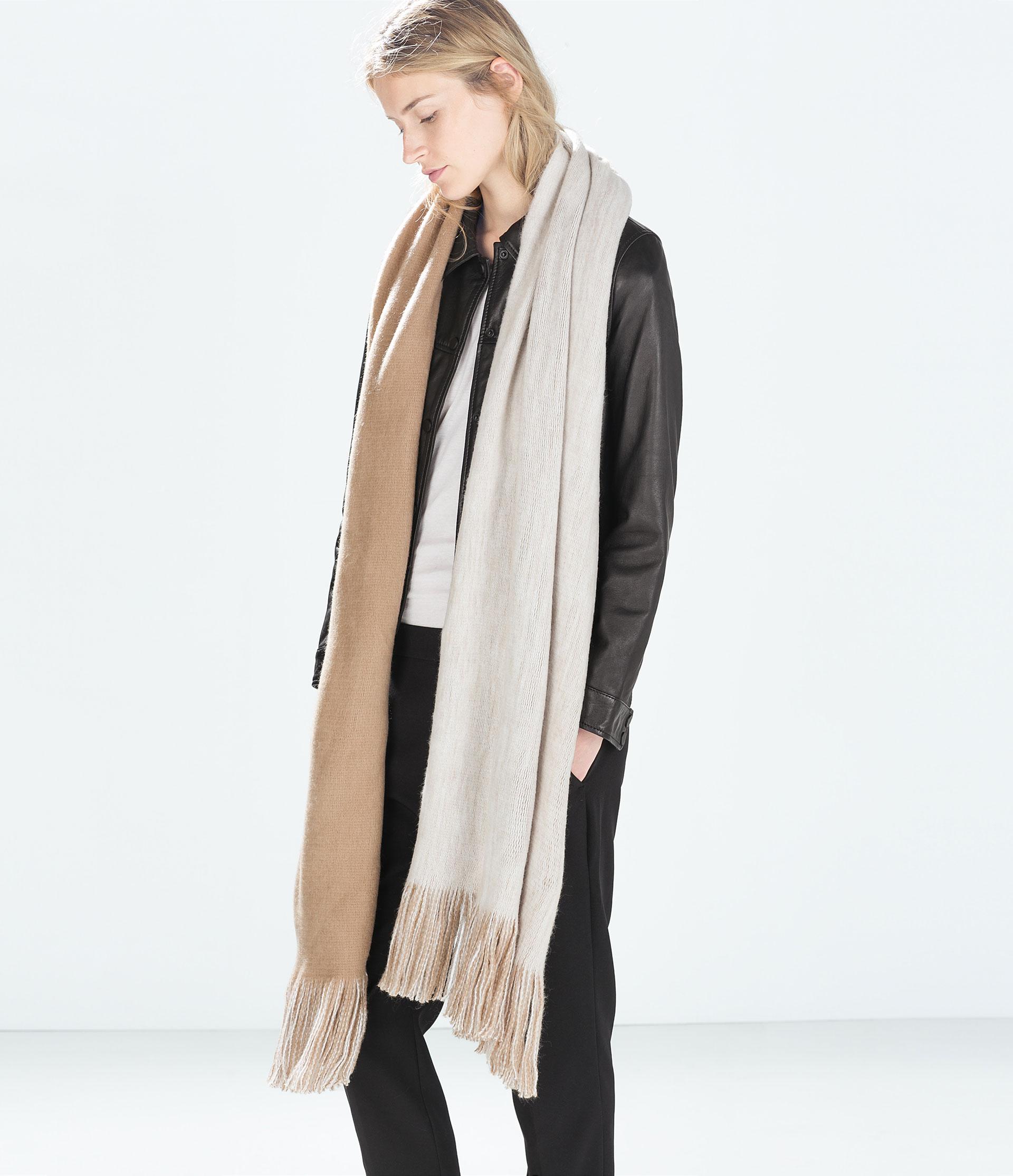 zara soft layered scarf in lyst