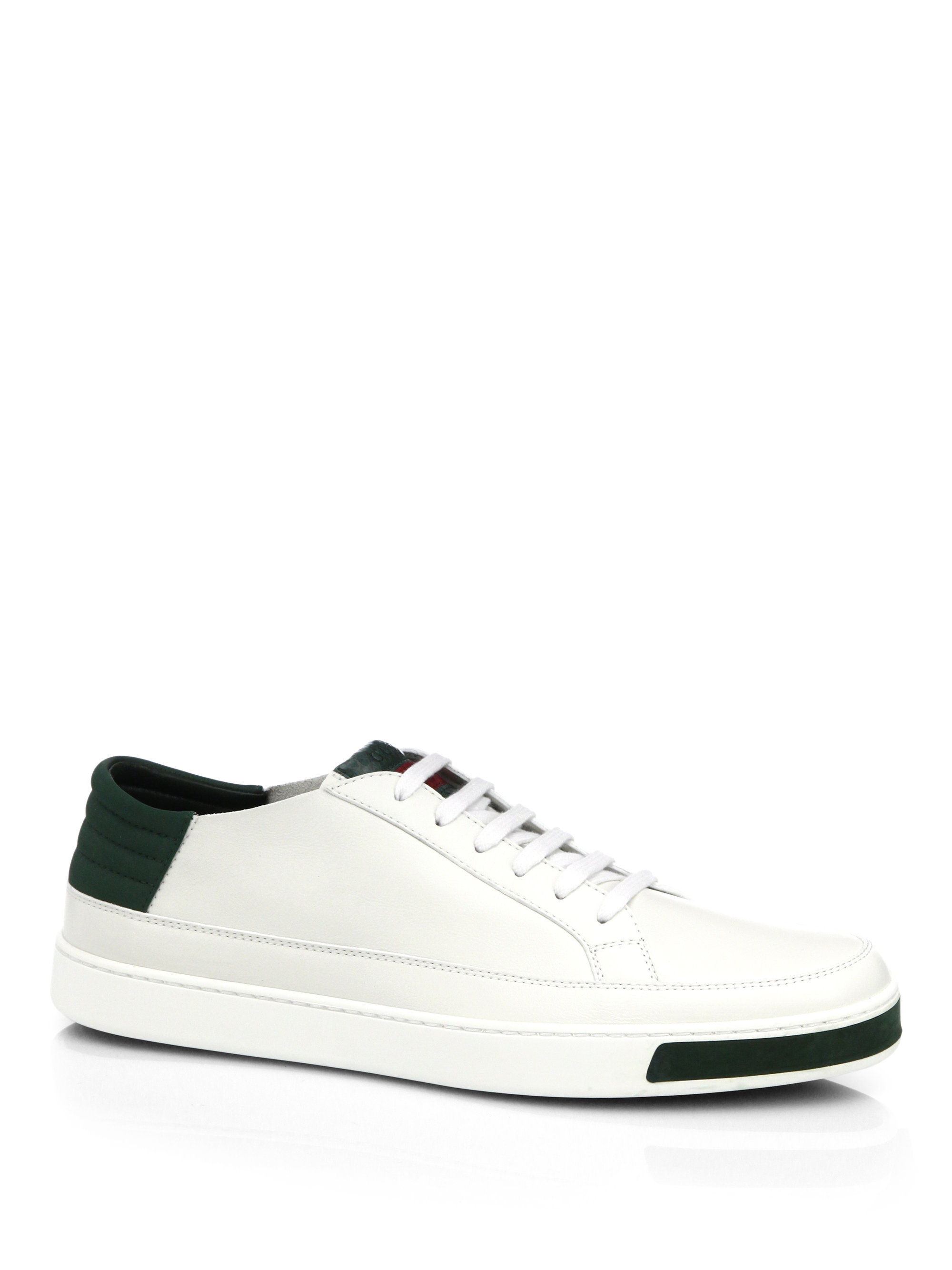 0fc678b972309 In Top For amp  Lyst Low Lizard Men Sneakers White Suede Gucci Leather  48fqSA