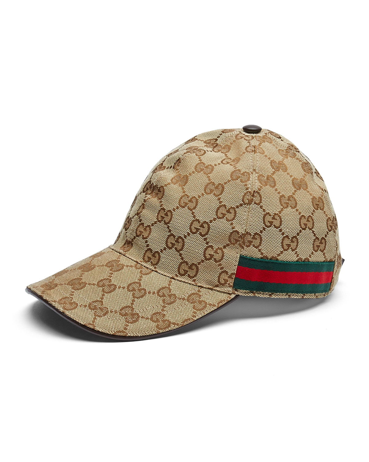 Lyst - Gucci Canvas Baseball Hat in Brown for Men 20a42533d1ca