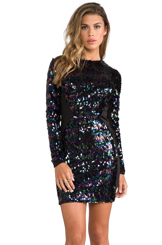 Black Sleeve sequin dress