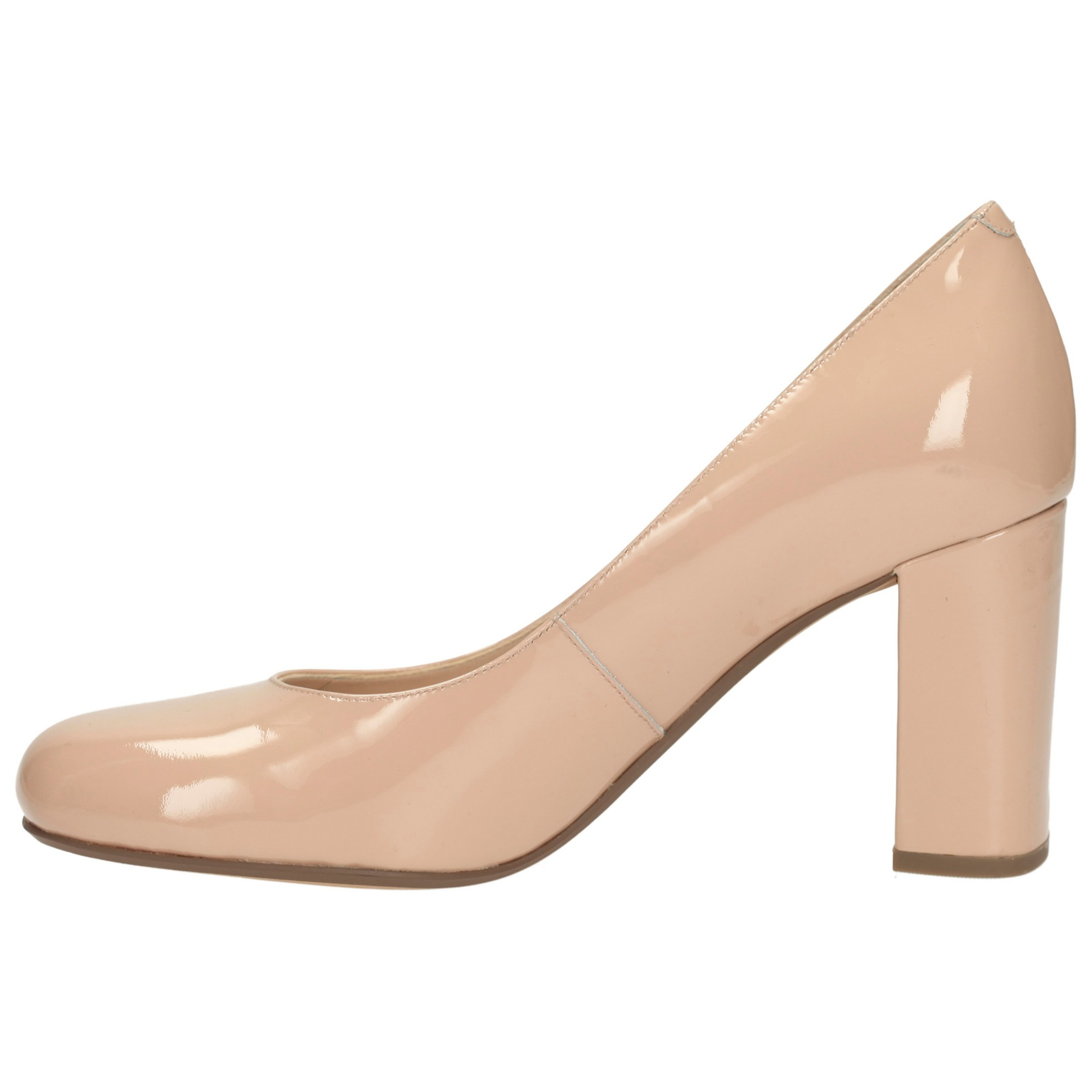 Nude Block Heel Shoes - Is Heel