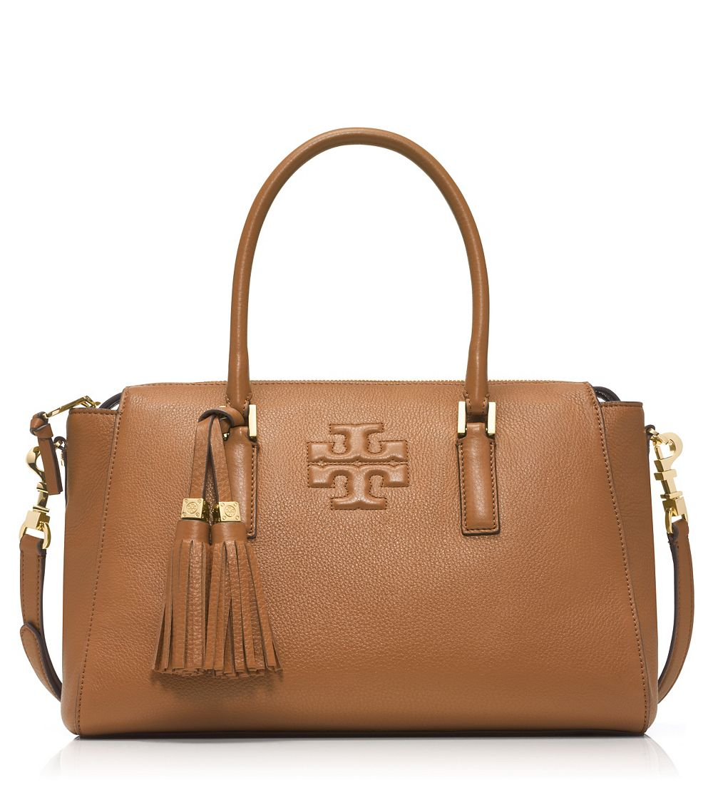 315b41dcfc0 Lyst - Tory Burch Thea Leather Satchel in Brown